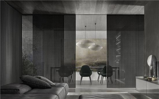 在室内设计当中,弹性隔断与隔音材料的运用
